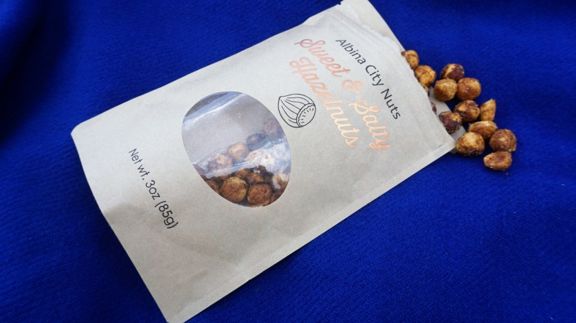 What Was in My Portland Explore Local Box? Sweet & Salty Hazelnuts from Albina City Nuts.