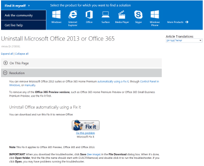 Microsoft Office 365 desktop applications deployment, a walkthrough | The Sol-Tec Techies' Blog
