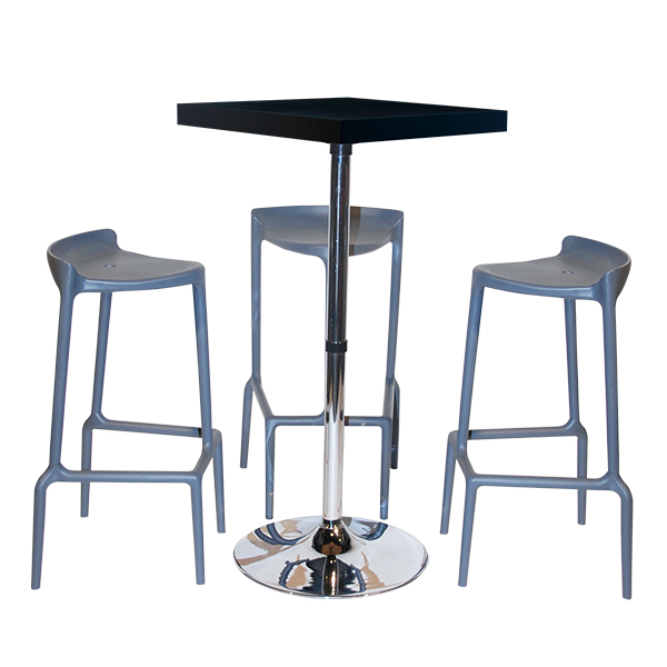 Tabourets De Bar Amazone Pack Granite Carre - Solution Mobilier