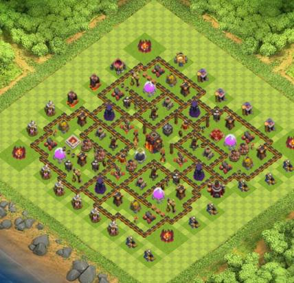 village clash of clans hdv 10 coc sur. Black Bedroom Furniture Sets. Home Design Ideas