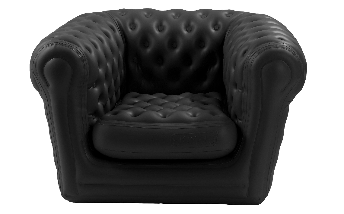 Fauteuils Chesterfield Rouge Location Fauteuil Noir Chesterfield Gonflable Blofield Big Blo 1