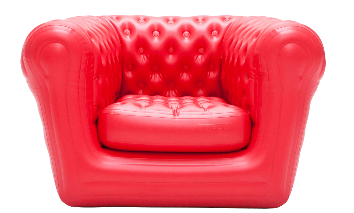 Fauteuils Chesterfield Rouge Location Fauteuil Rouge Chesterfield Gonflable Blofield Big Blo 1