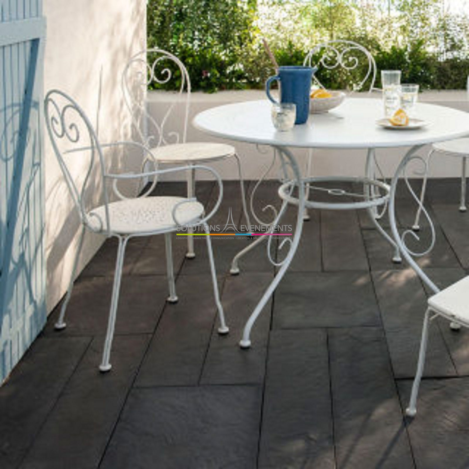 Table En Fer Table De Jardin En Fer Cool Wrought Iron Garden Furniture