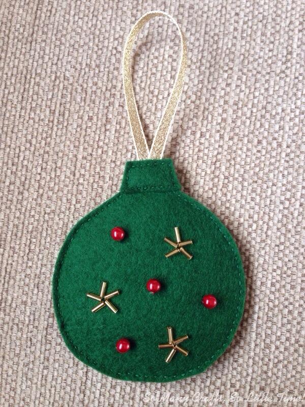 Felt Christmas decorations - Hello! Hooray! - felt christmas decorations