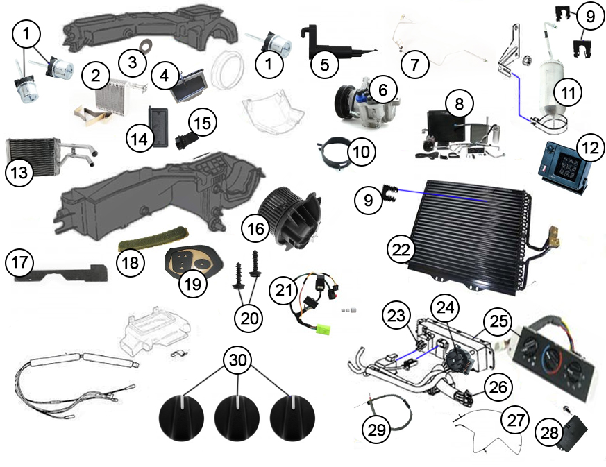 Diagrams For Jeep  A/C Parts  1997-2006 Jeep Wrangler TJ