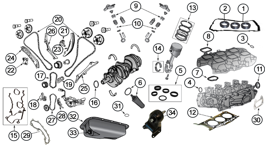 Diagrams For Jeep  Engine Parts  36L Engine