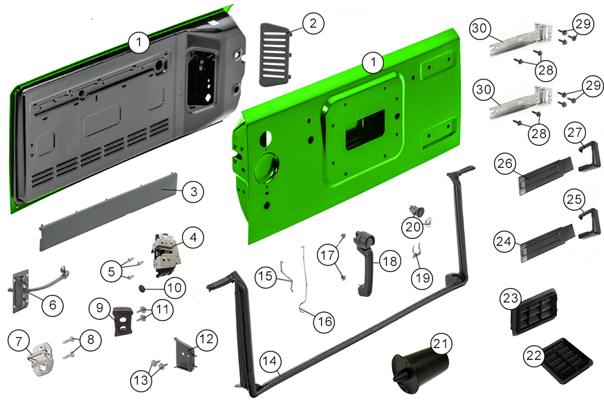 Diagrams For Jeep  Liftgate  Tailgate Parts  Jeep Wrangler JK