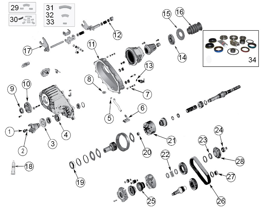Diagrams For Jeep  Transfer Parts  NP 242 Transfer Case  1999