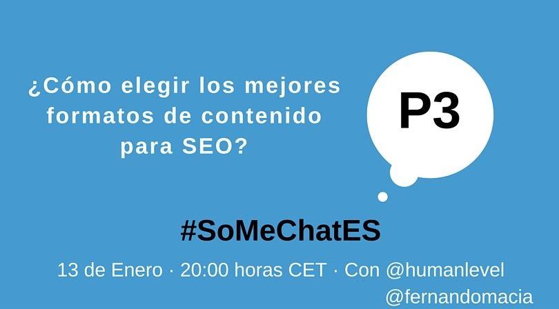 #SoMeChatES pregunta 3 Twitter chat Fernando Maciá