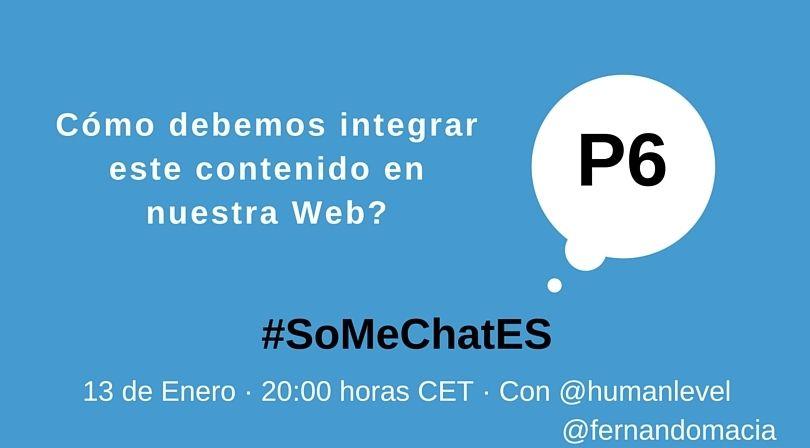 #SoMeChatES pregunta 6 Twitter chat Fernando Maciá