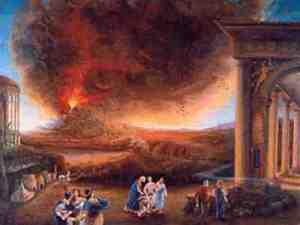 mount vesuvius erupting in pompeii