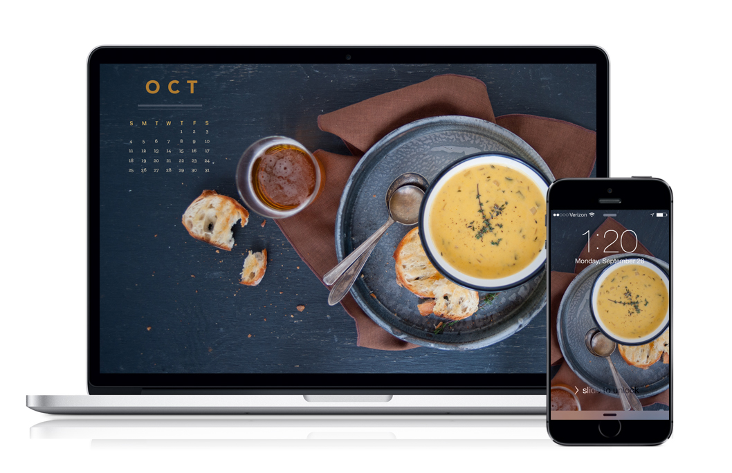 Some Kitchen Stories October 2015 Calendar