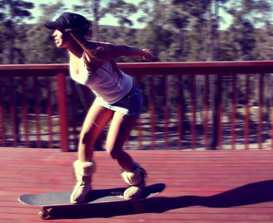 skateboarding-girl