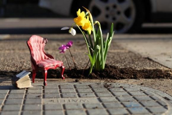 Mini jardim cadeira