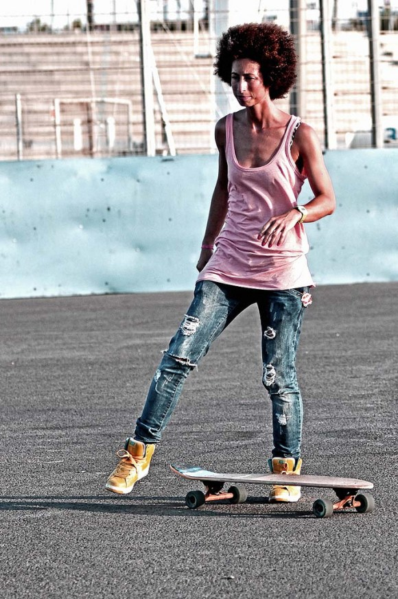 mulher skate style