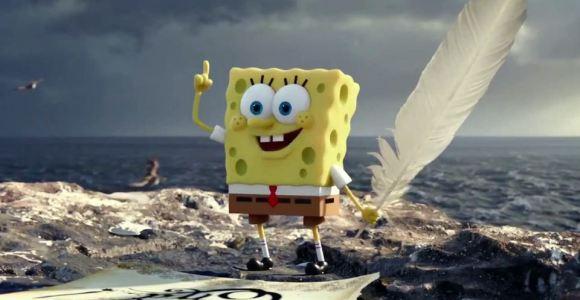 Bob Esponja sai da água e ganha corpo 3D em novo filme, assista ao trailer