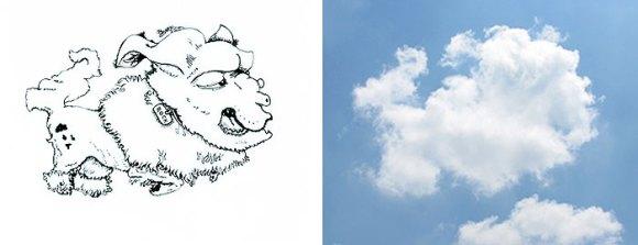 Desenho em nuvens - cão (2)