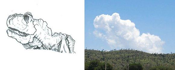 Desenho em nuvens - dino (2)