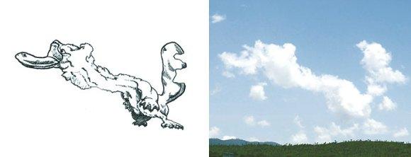 Desenho em nuvens - ornitorrinco (2)