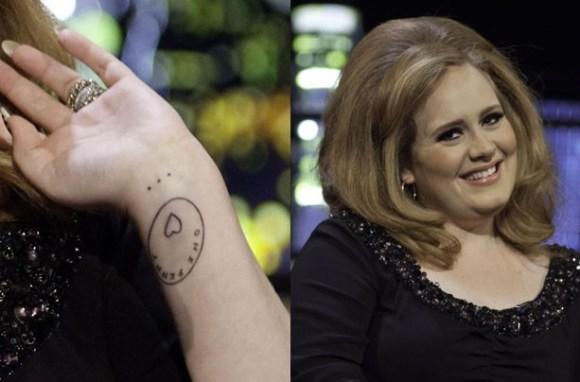 Tatuagem famosos - Adele coração