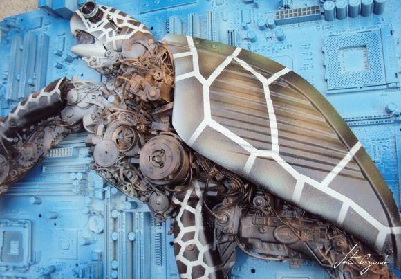 Animais de sucata - tartaruga 2