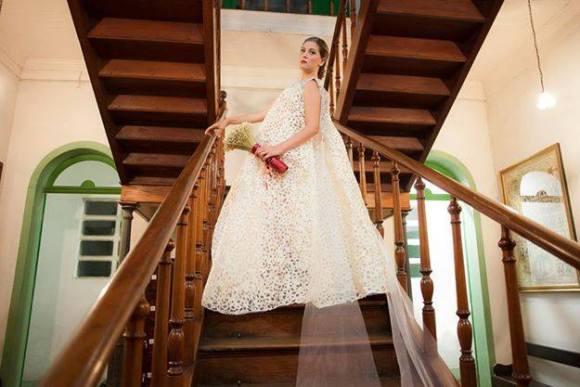 Vestidos de noiva com sacos de cimento 5