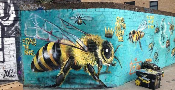 Grafiteiro se especializou em desenhar abelhas pelos muros de Londres