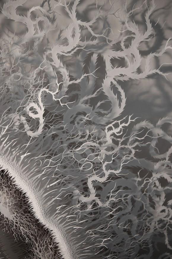 Escultura - bactéria de papel 3