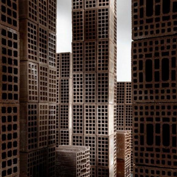 Maquete de cidade com tijolos 6