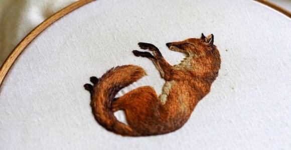 Artista mistura ilustração e bordado para criar gravuras extremamente realistas
