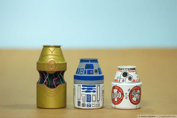 Yakult Parade Star Wars - c3po-r2d2-bb8