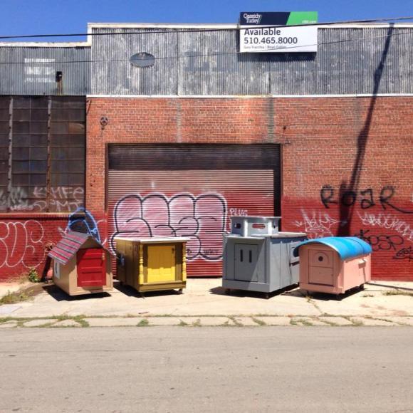 Casas de sucata para moradores de rua 1