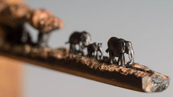 Esculturas no grafite do lápis 5