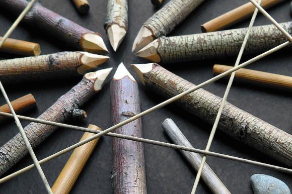 Mandalas de madeira e pedras 6