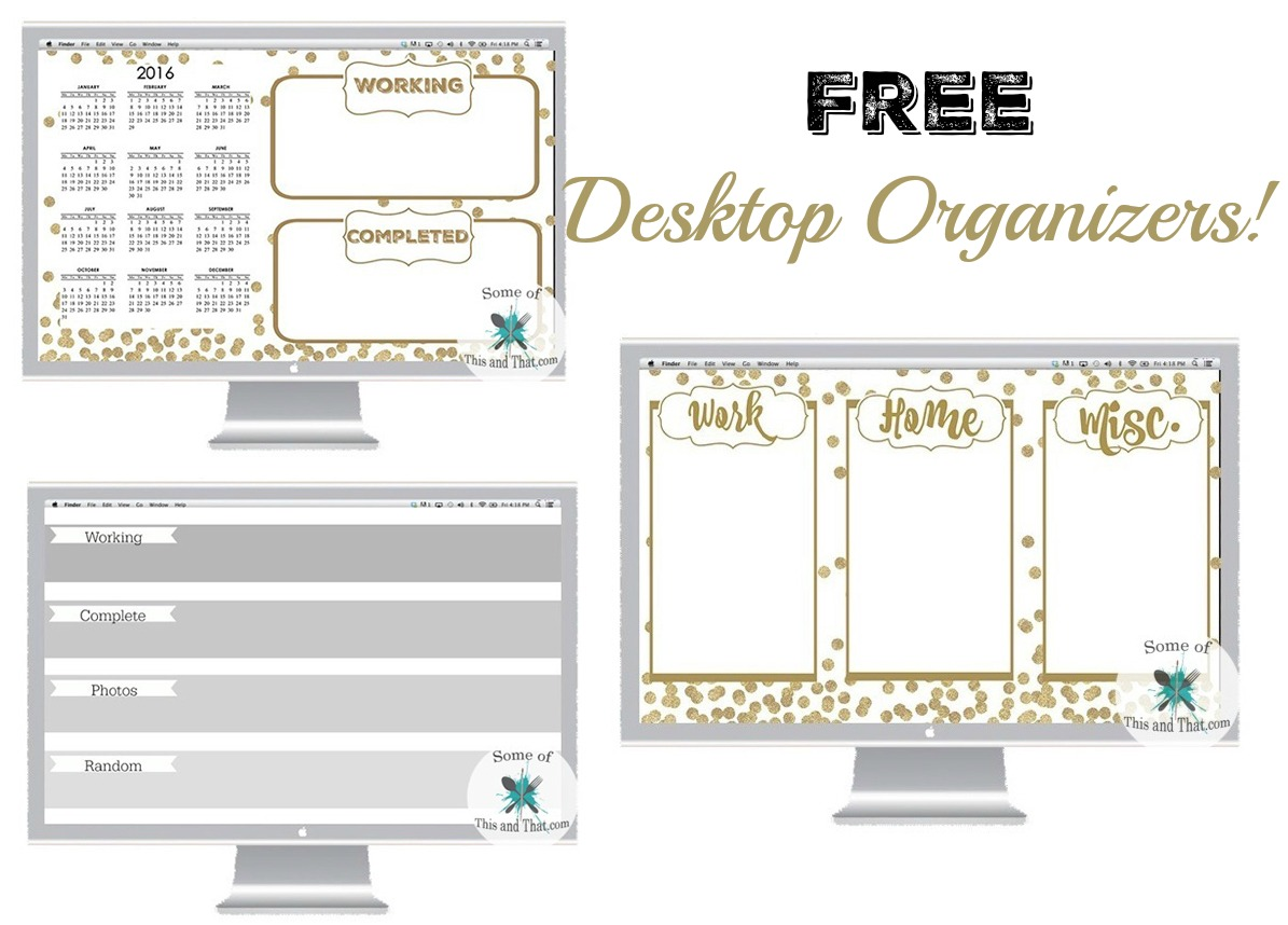 Cute Desktop Organizers Free Desktop Organizers Some Of This And That