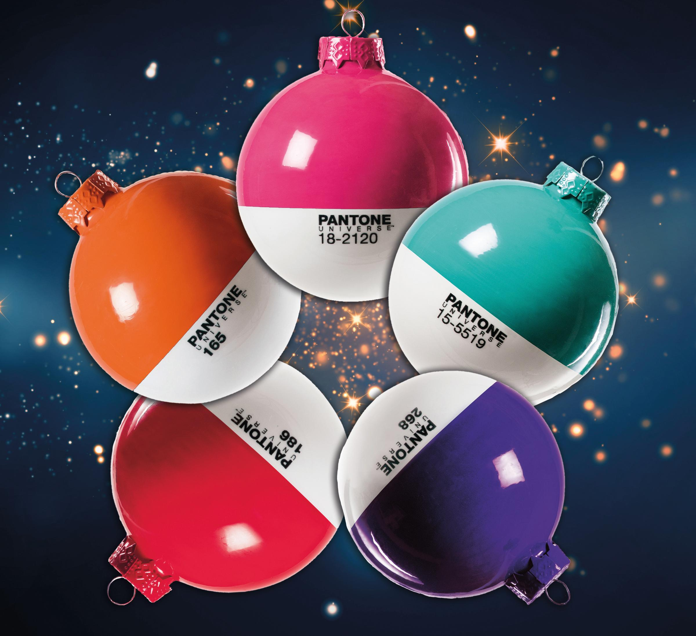 Pantone Christmas Ornaments Festive Fun With Pantone Universe Christmas Baubles Somerset