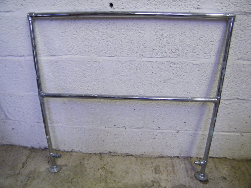 Reclaimed Chrome Floor Mounted Towel Rail Somerset