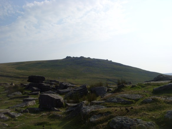 West Mill Tor - from Rowtor on a blissful afternoon.