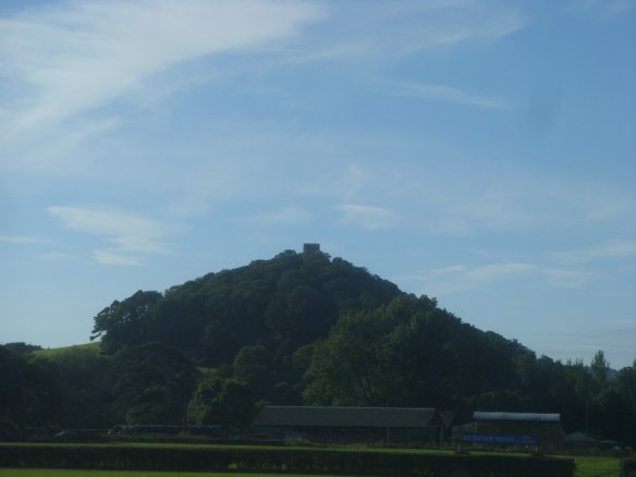 passing below the lofty 'mump' of Conygar Folly near Dunster Castle - on the way to the seaside...