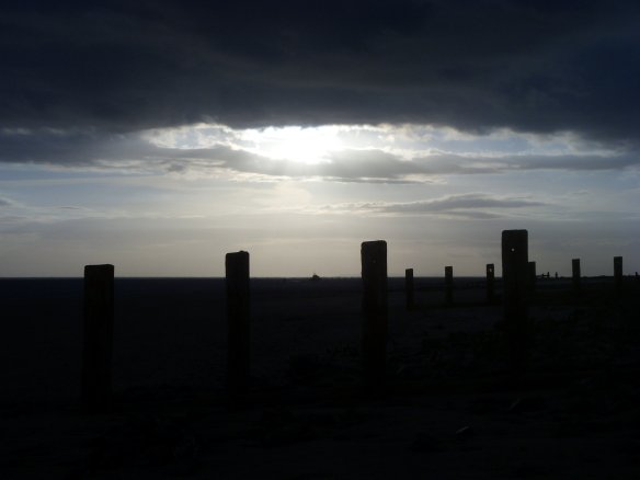Sentinels. Groyne at Crow Point.