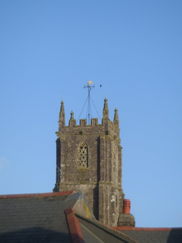 The tower of St. Mary Magdalene's Church South Molton.