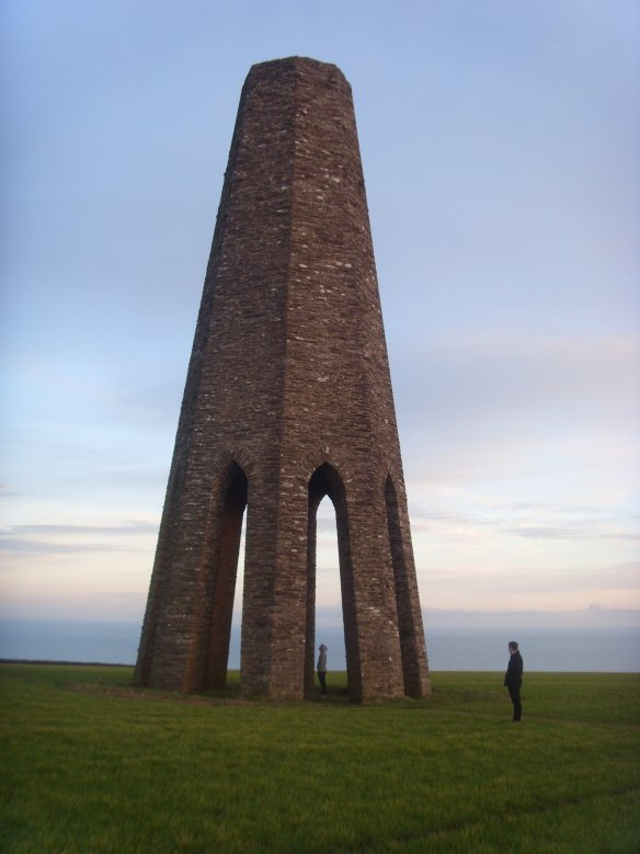 The Daymark Tower Kingswear. Something about Dartmoor