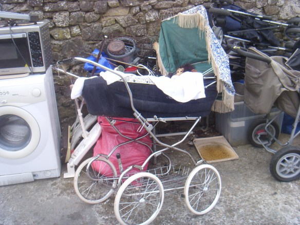 A tired old pram gets a new life...