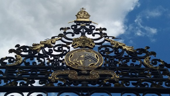 Motto on the wrought-iron garden gate of New College Oxford. How true.