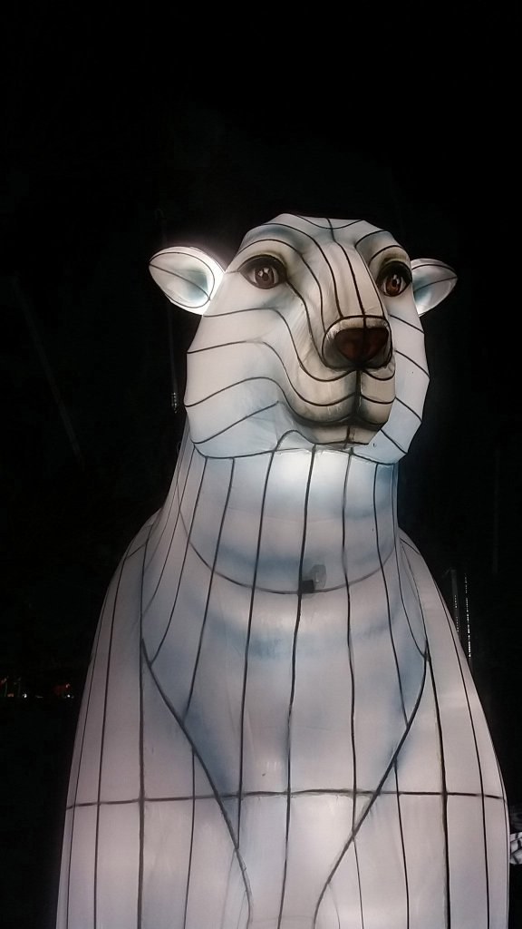 Longleat Festival Of Light. Polar Bear (1)