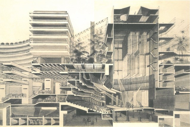 The Barbican Centre cross section (via Culture Label)