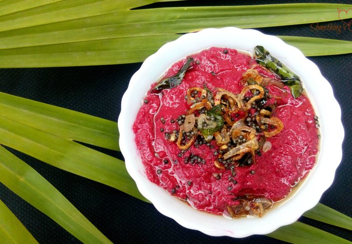 Beetroot Pachadi (Beetroot in Yogurt Sauce)