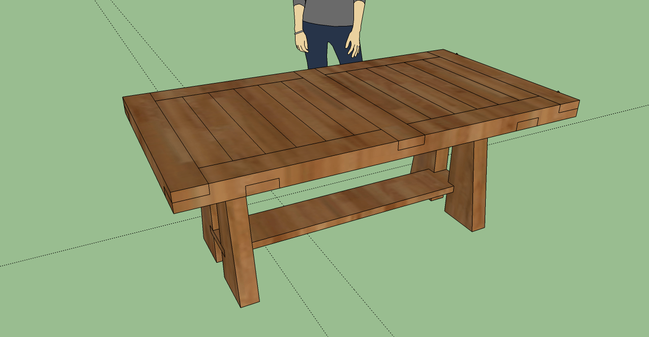 3d dining table model using sketchup make kitchen table 3D Dining Table Model using Sketchup