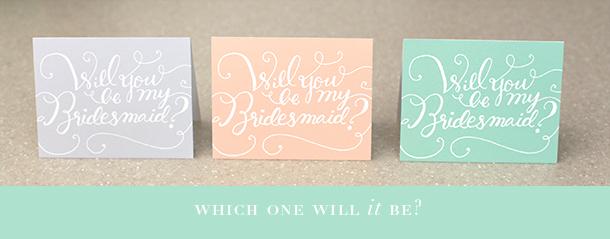 Printable Bridesmaid Cards - Something Pretty