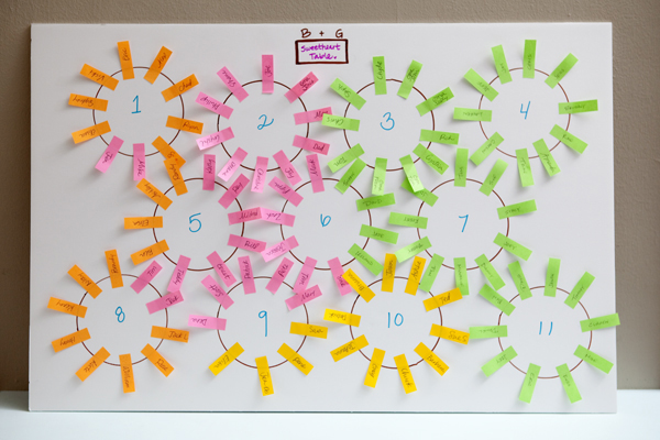 Learn how to make the easiest wedding seating chart ever! - a seating